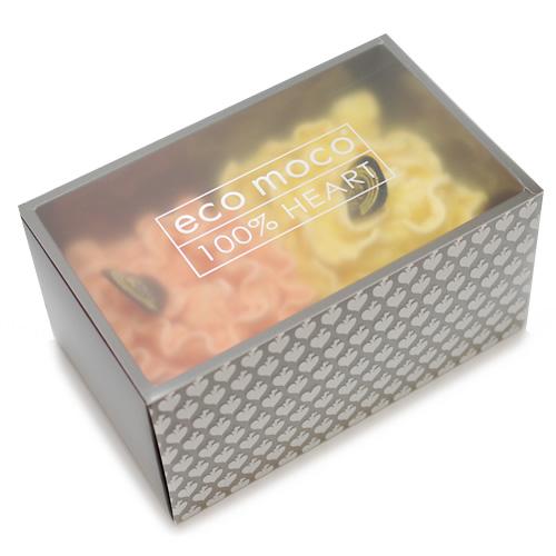 ecomoco Rainbow モコモコギフトセット(フェイスタオル2枚)・2 ORANGE/STAR