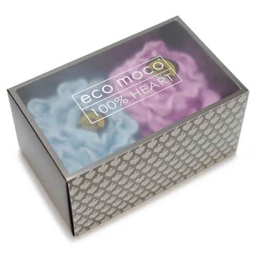 ecomoco Rainbow モコモコギフトセット(フェイスタオル2枚)・3 WAVE/BUTTERFLY