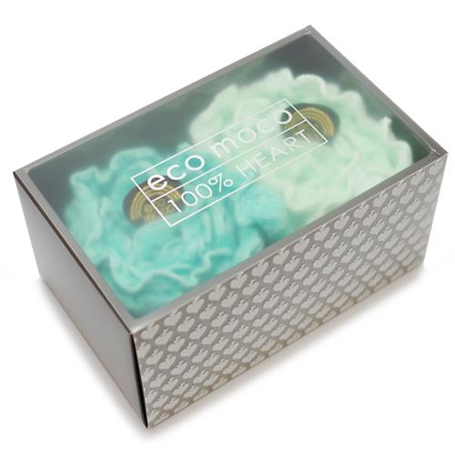 ecomoco Rainbow モコモコギフトセット(フェイスタオル2枚)・4 MERMAID/DROP