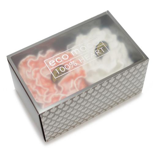 ecomoco Rainbow モコモコギフトセット(フェイスタオル2枚)・7 BIGアプリコット/ANGEL