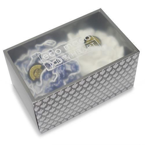 ecomoco Rainbow モコモコギフトセット(フェイスタオル2枚)・8 BIGディープブルー/ANGEL