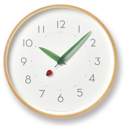 Lemnos とまり木の時計・てんとう虫
