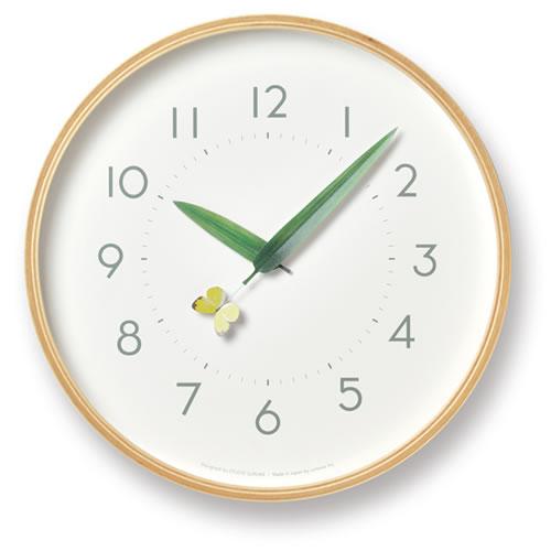 Lemnos とまり木の時計・モンキチョウ