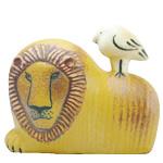 Lisa Larson 陶器 ライオンと鳥