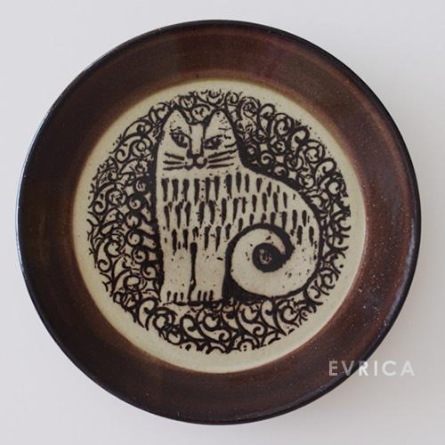 Lisa Larson 益子の皿・ねこ NINA