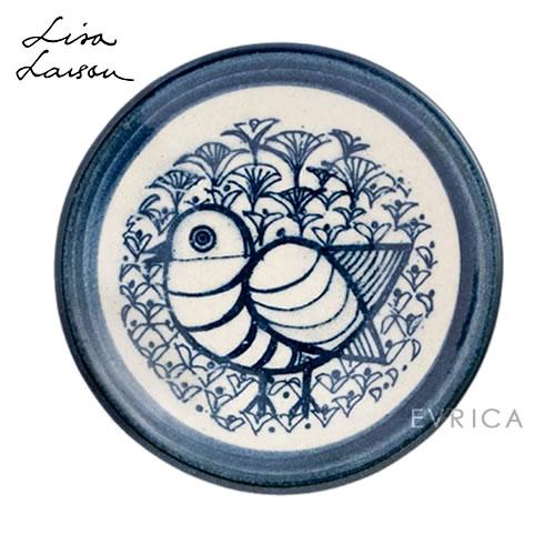 Lisa Larson 益子の豆皿・とり・青