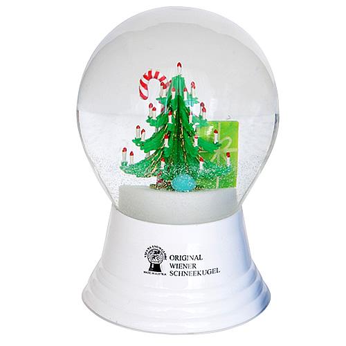 Vienna Snowglobe 8cm 飾られたクリスマスツリー