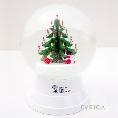 Vienna Snowglobe 12cm クリスマスツリーとプレゼント