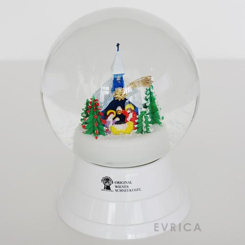 Vienna Snowglobe 12cm クリスマスの教会