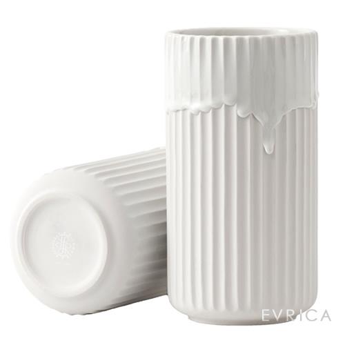 Lyngby Porcelaen Lyngby vase with running glaze・ホワイト