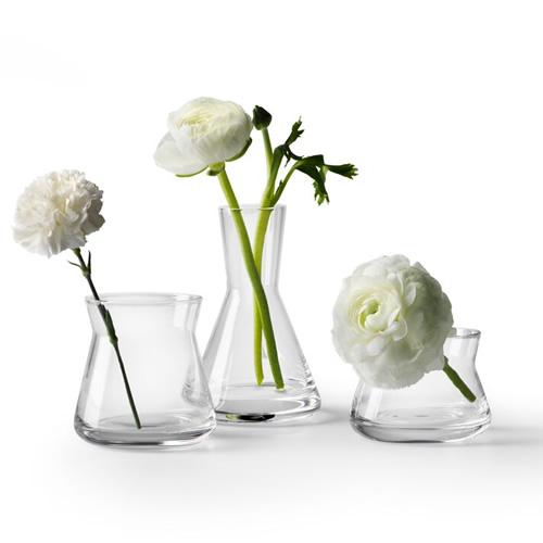 DESIGN HOUSE Trio vase・クリア 3個セット