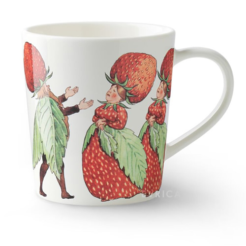 DESIGN HOUSE マグwith handle・The Strawberry family