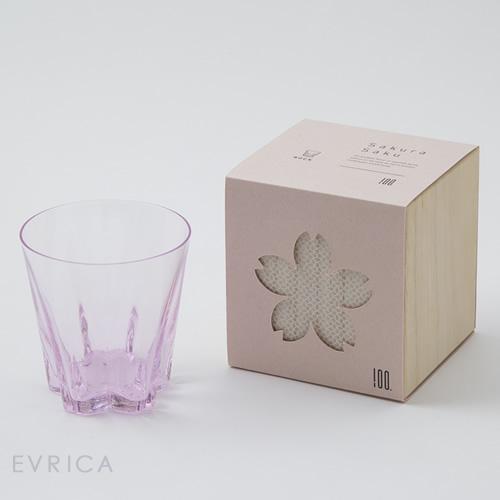 100% さくらさく グラス ロック1個・桜色