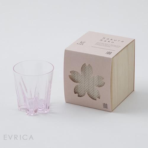 100% さくらさく グラス サケ1個・桜色