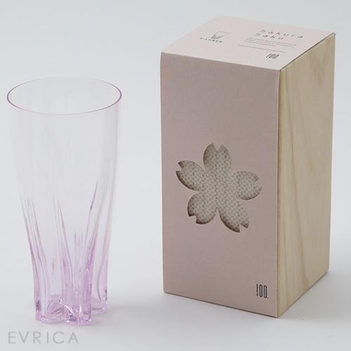 100% さくらさく グラス ピルスナー1個・桜色