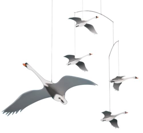 FLENSTED MOBILES Scandinavian swans(北欧の白鳥)