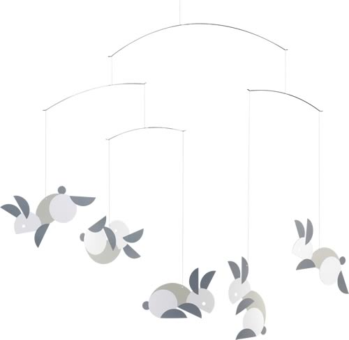 FLENSTED MOBILES Circular bunnies(まあるいウサギ)