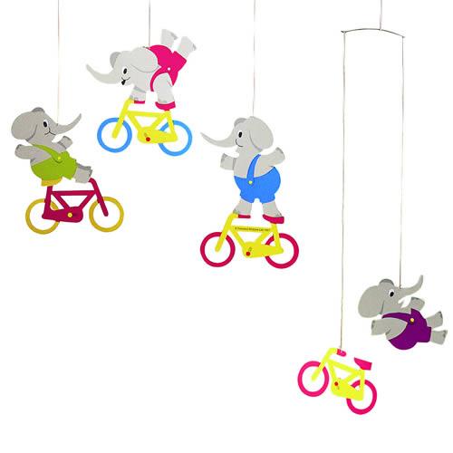FLENSTED MOBILES Cycle phants(自転車とゾウさん)