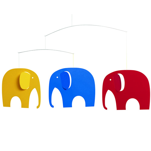 FLENSTED MOBILES Elephant party ぞうのパーティ・カラフル