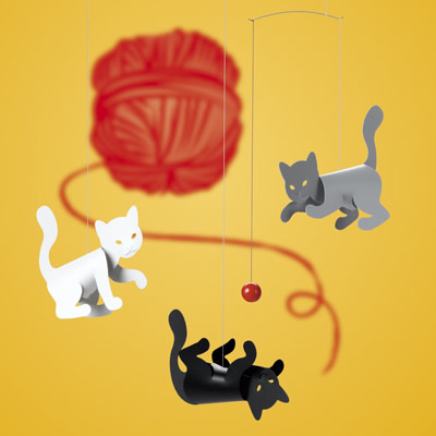 FLENSTED MOBILES Kitty Cats(こねこ)