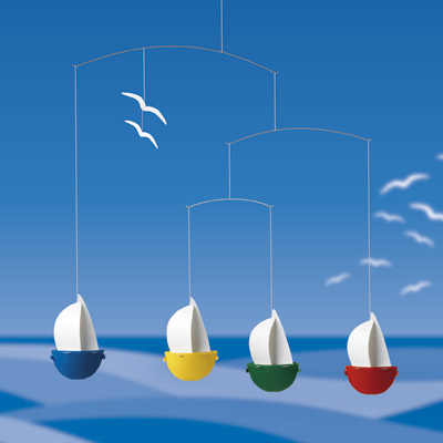 FLENSTED MOBILES Sail fun( 船のモビール)