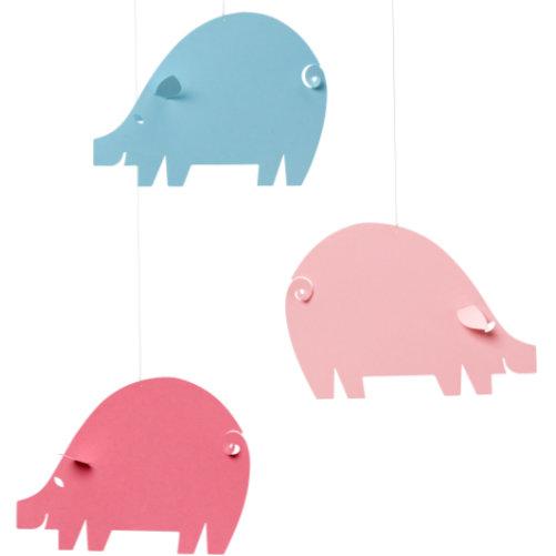 FLENSTED MOBILES piggy mobile(こぶたのモビール)ピンクブルー