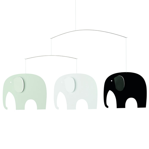 FLENSTED MOBILES Elephant Party ぞうのパーティ・ブラック ホワイト