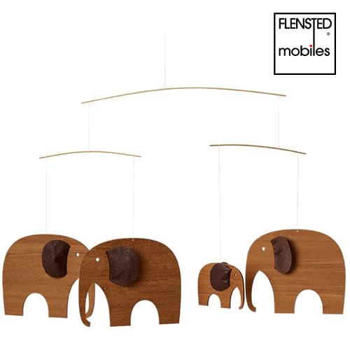 FLENSTED MOBILES Elephant Party  TEAK(チークの特別なエレファントパーティー)